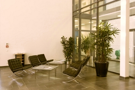 Clean and welcoming office lobby in Northumberland